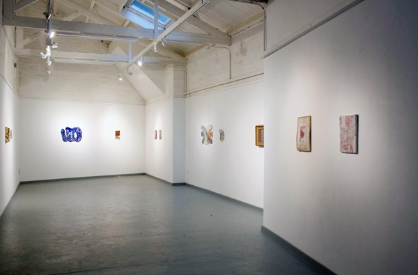 Installation view from <em>Painting in the Dark</em>, 2016
